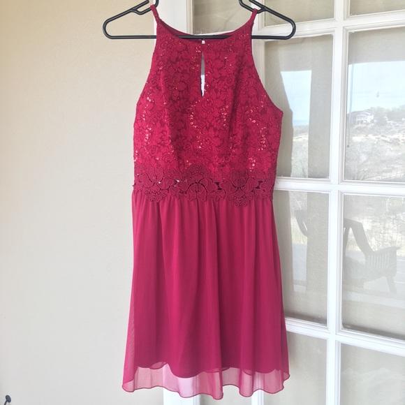 Amy Byer Dresses Red Semi Formal Dress Size 9 Poshmark